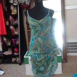 Geometrical Print Dress